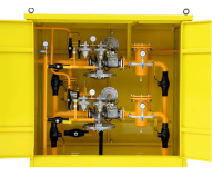 Gas reducing and metering stations